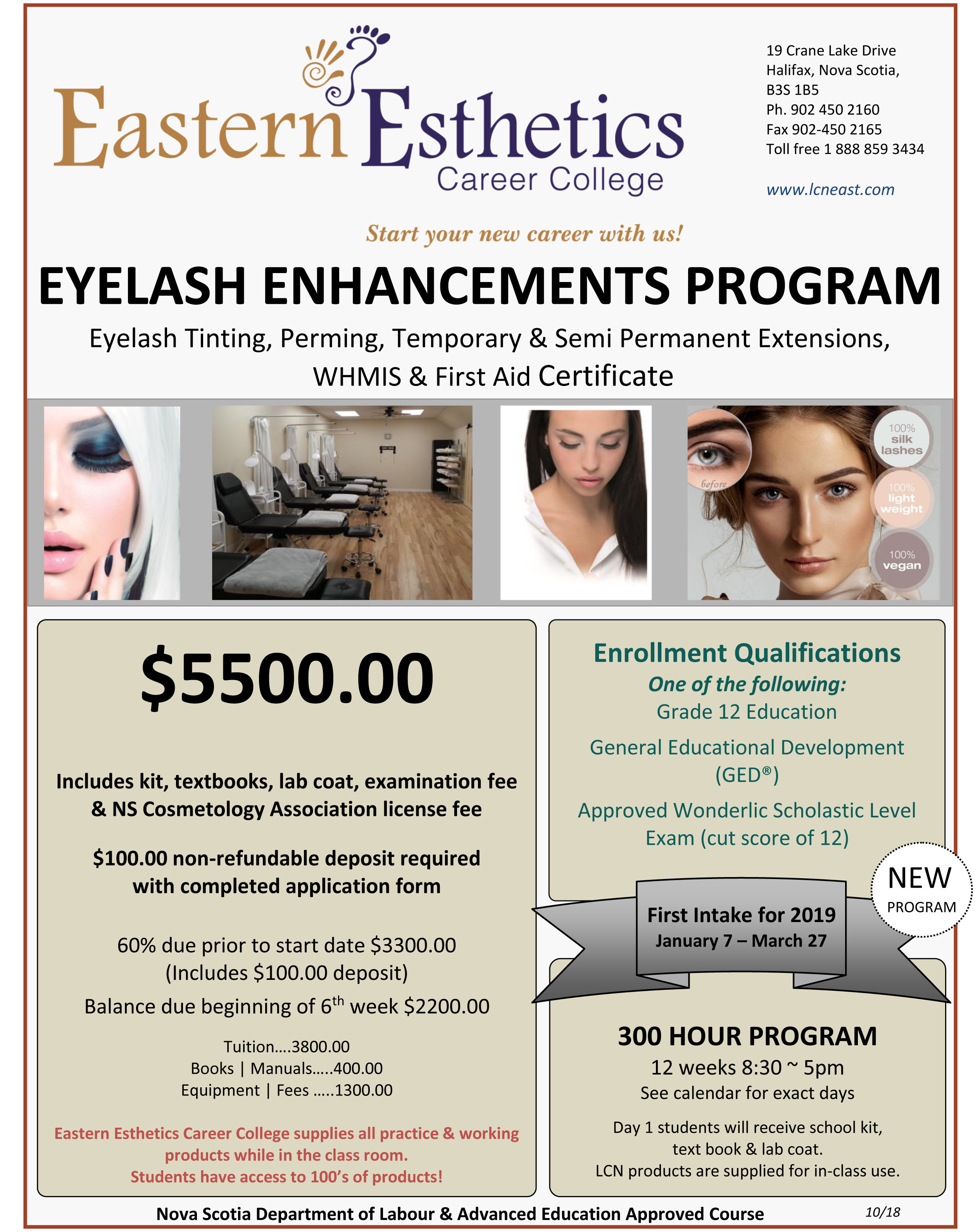 2018 EECC flyer Eyelash Enhancements program october