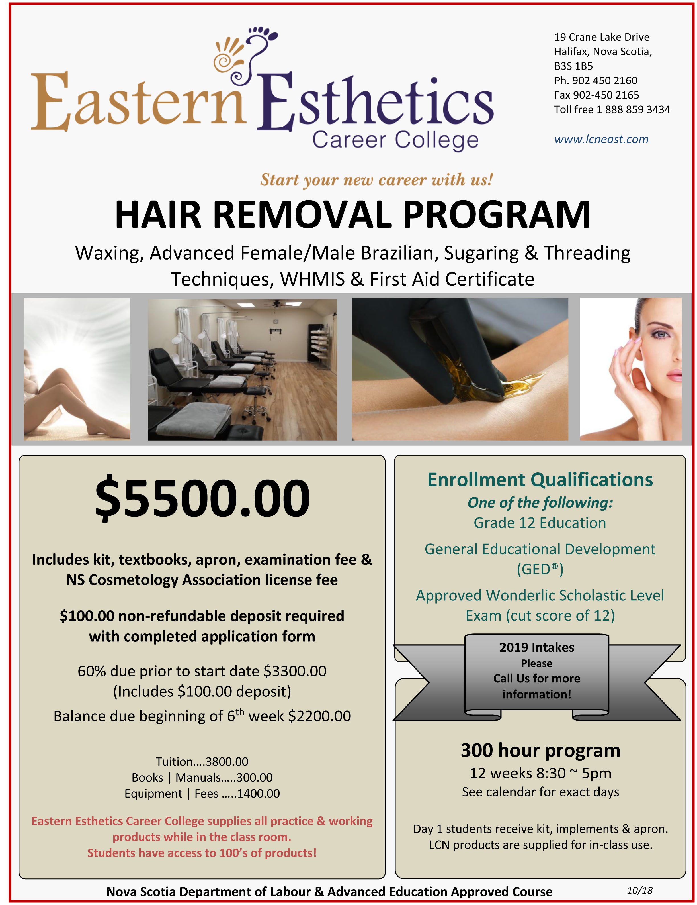 2018 EECC flyer hair removal program october